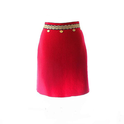 Embellished Wool Skirt