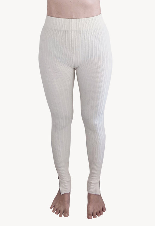 Merino Wool Leggings Oat Milk
