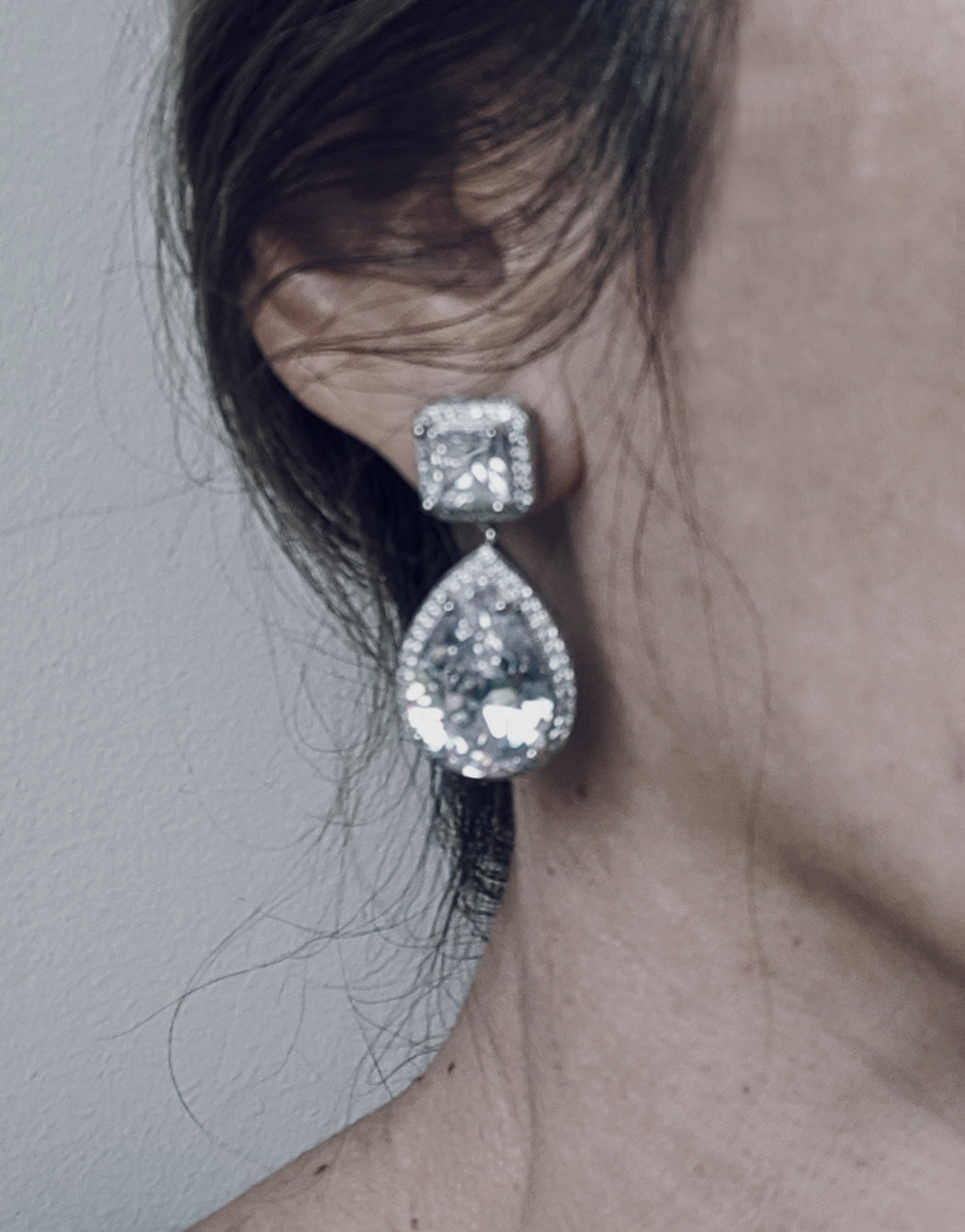 Pear Drop Earrings Celine