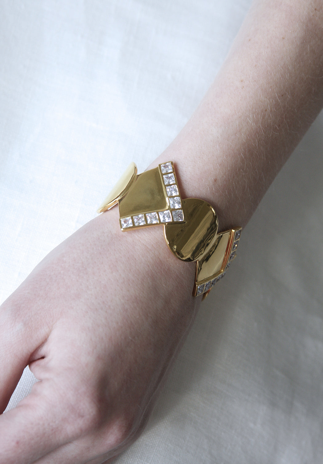 Reflection Gold Cuff Bracelet
