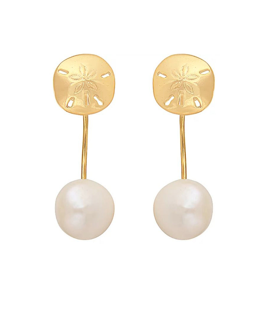 Sand Dollar Pearl Earrings