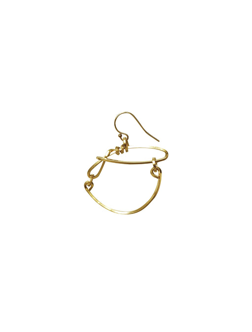 The Swing Gold Hoops Earrings