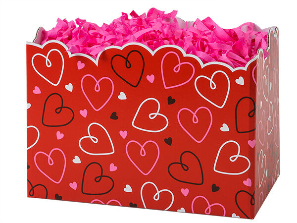 Large Red Hearts Box