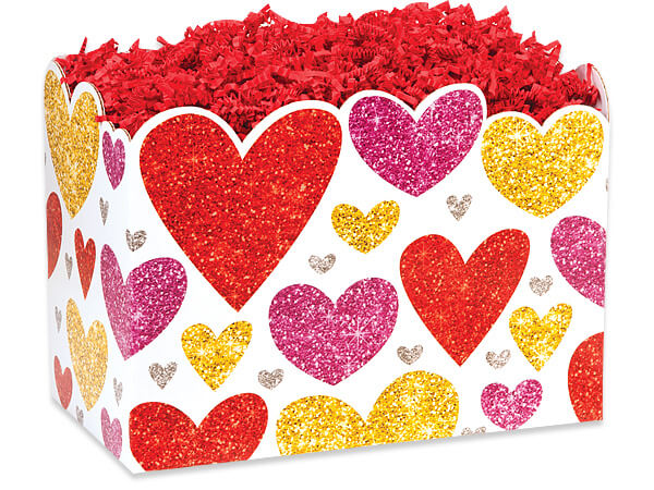 Large Glitter Hearts Box