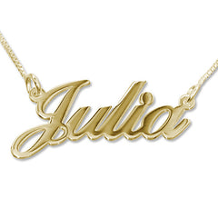 18K gold plated name necklace