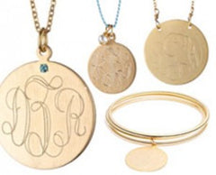 Gold plated Monogram jewelry