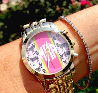 preppy monogram watch