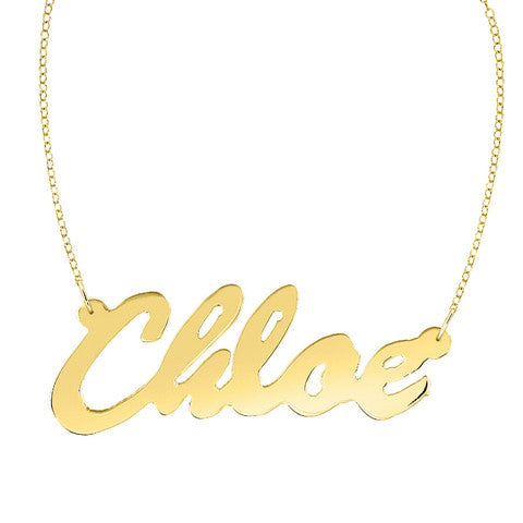 Gold Plated Nameplate necklace