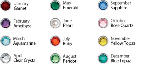 Swarovski Birthstone Colors