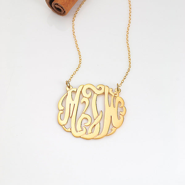 20477c3139172 Hanging Block Initial Name Necklace - Ashley Benson - Be Monogrammed