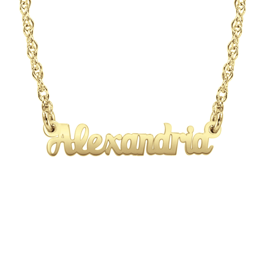14K Solid Gold Name Necklace 2
