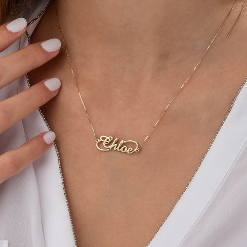 14K Gold Infinity Name Necklace 2