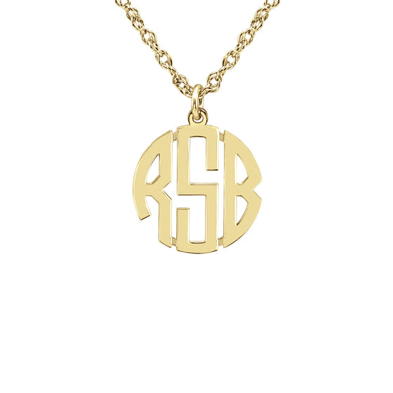 Block Mini Monogram Necklace