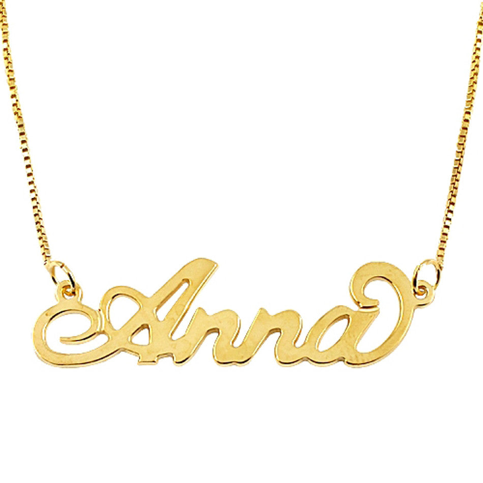 18K Solid Gold Name Necklace