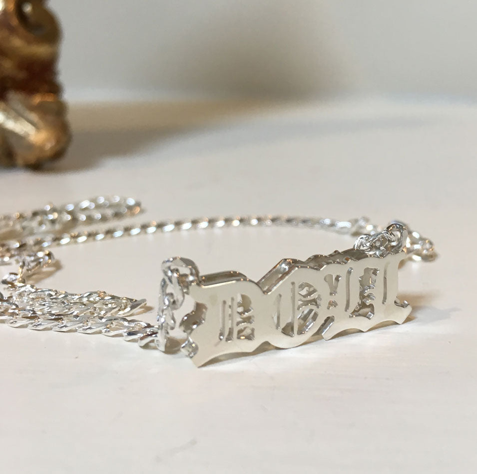 3D Gothic Name Necklace
