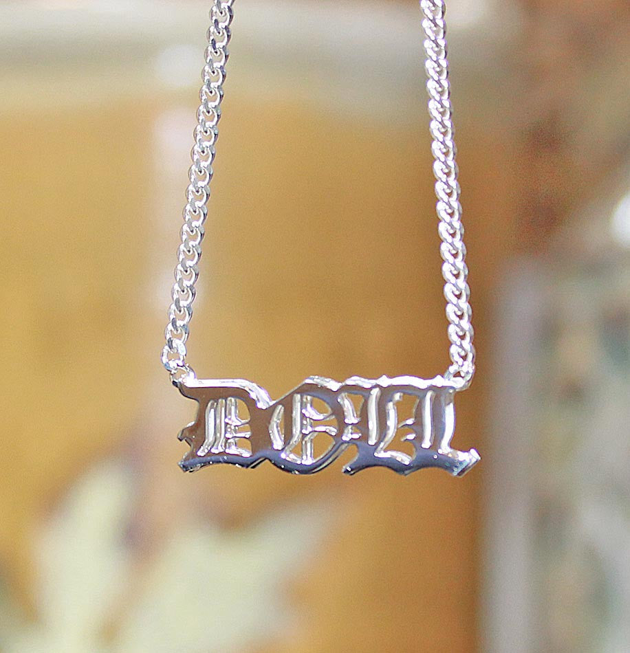 Personalized 3D Name Necklace - sterling silver