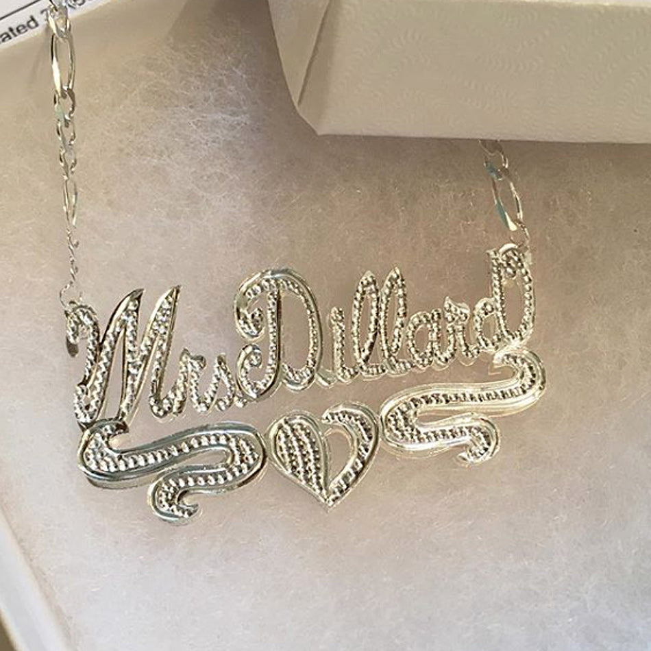 Double Plated 3D Beaded Name Necklace 11