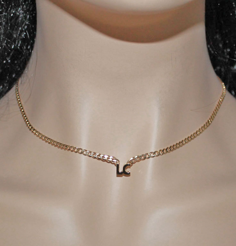 personalized 3d mini block initial necklace - miley cyrus
