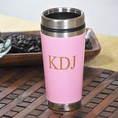 Personalized Pink Travel Mug