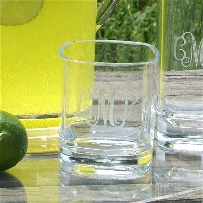 Monogrammed Acrylic Highball Glass