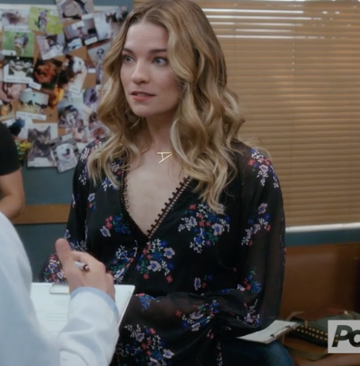Extra Large Sideways Initial Necklace-Alexis / Schitt's Creek