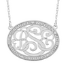 Classic Border Oval Monogram Mothers Necklace Alternate 1