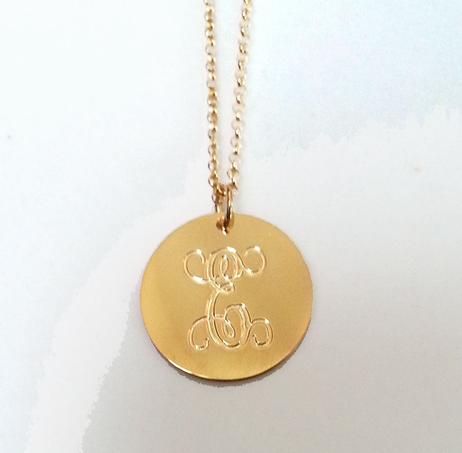 Engraved Disc Necklace Andi Dorfman The Bachelorette Alternate 3