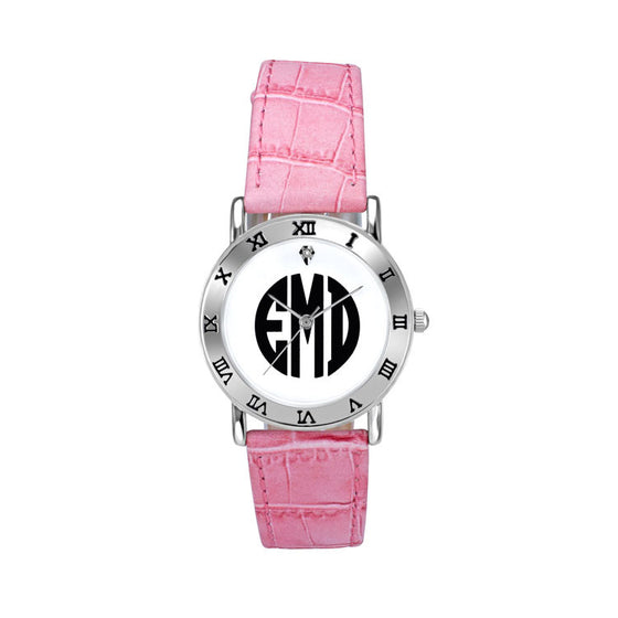 Ladies Classic Block Monogram Watch