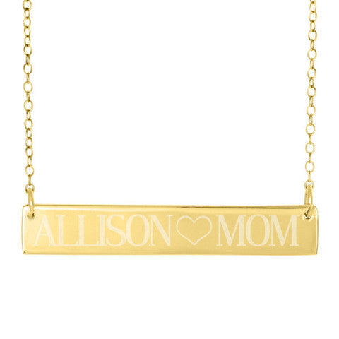 Engraved Gold Bar Necklace Clare Of The Bachelor Reese Witherspoon Alternate 4