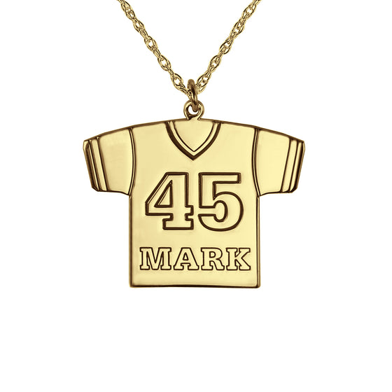 Personalized Football Jersey Necklace