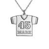 Personalized Football Jersey Necklace Alternate 1