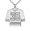 Personalized Hockey Jersey Necklace Alternate 1