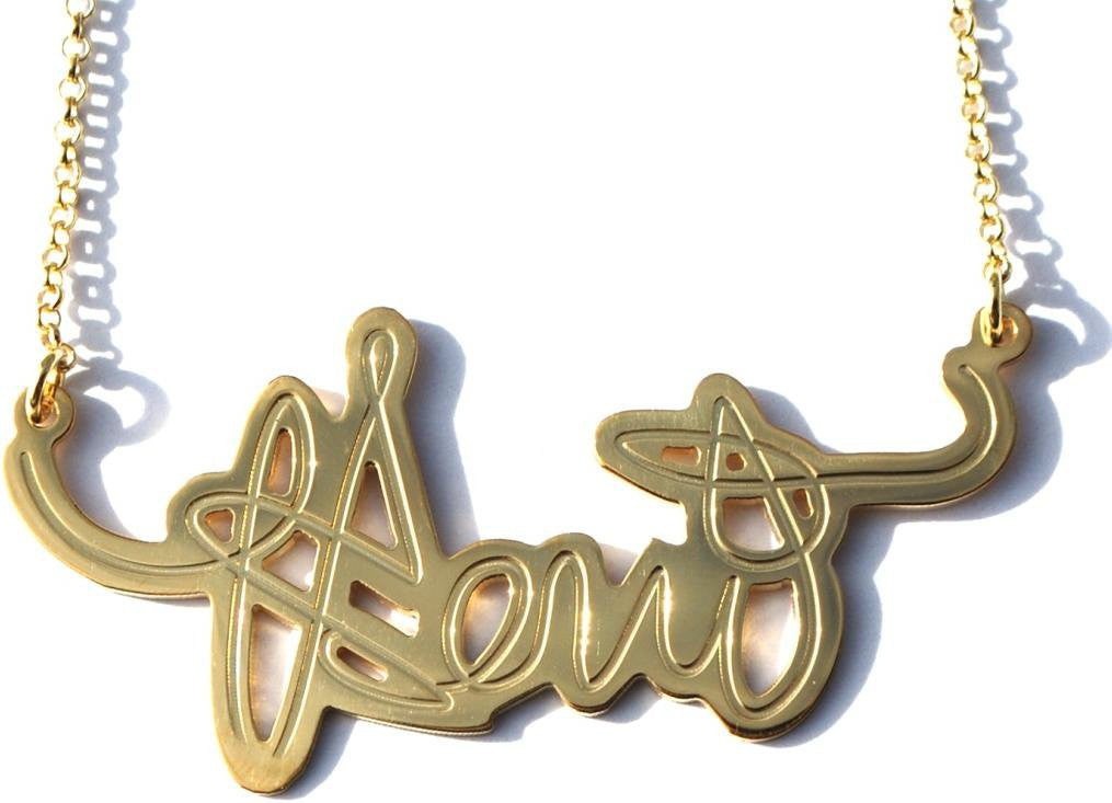 Your Signature Nameplate Necklace