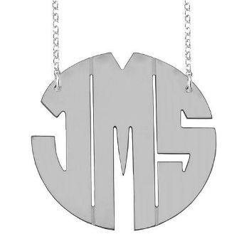Sterling Silver Monogram Necklace Michelle Money Bachelor In Paradise