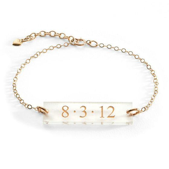 Personalized Acrylic Bar Bracelet
