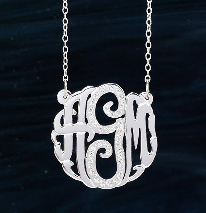 CZ Monogram Necklace