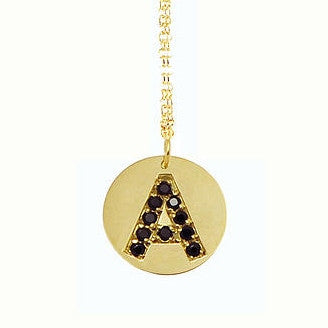 CZ Birthstone Initial Necklace
