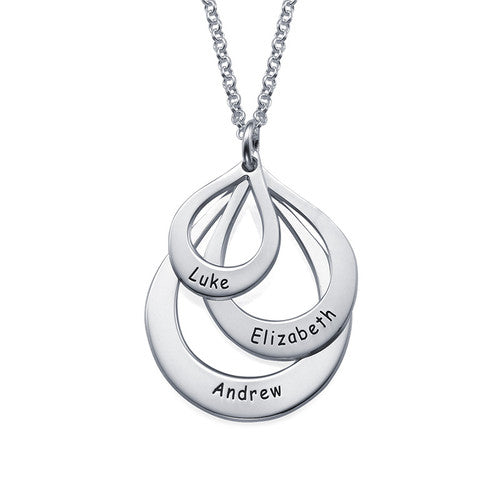 Engraved Family Drop Necklace -2