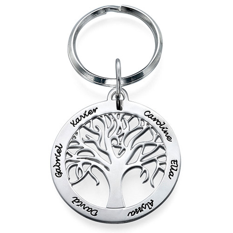 Personalized Family Tree Keychain