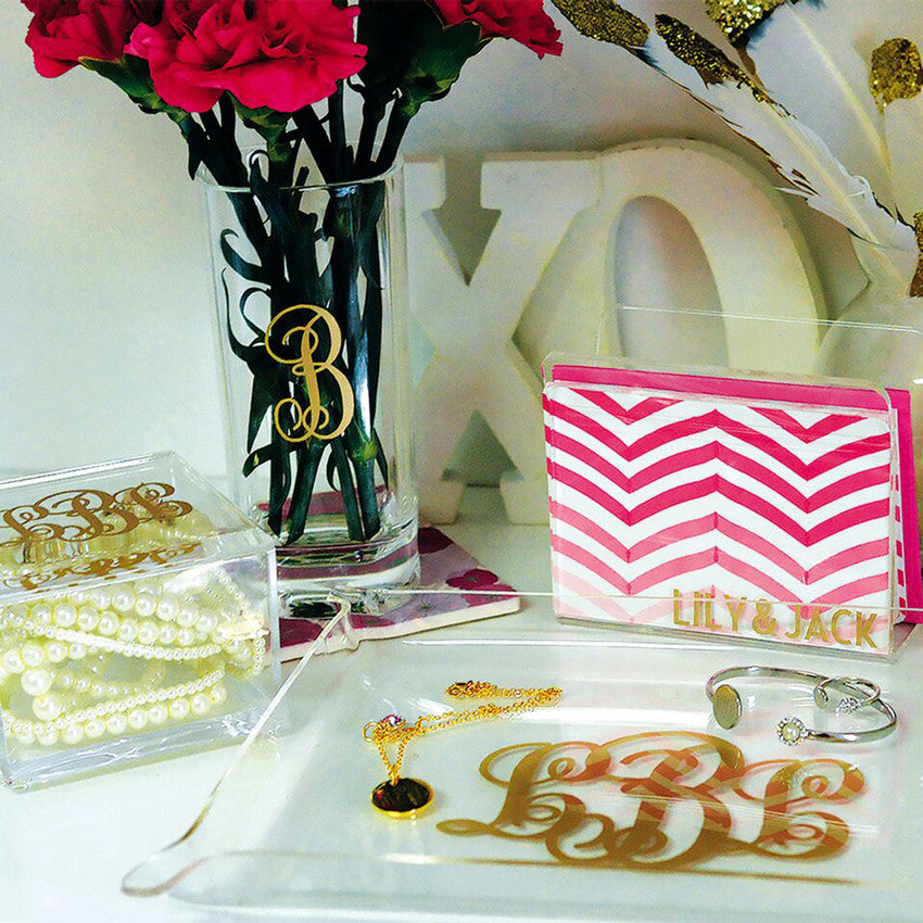 Small Monogram Acrylic Tray 2