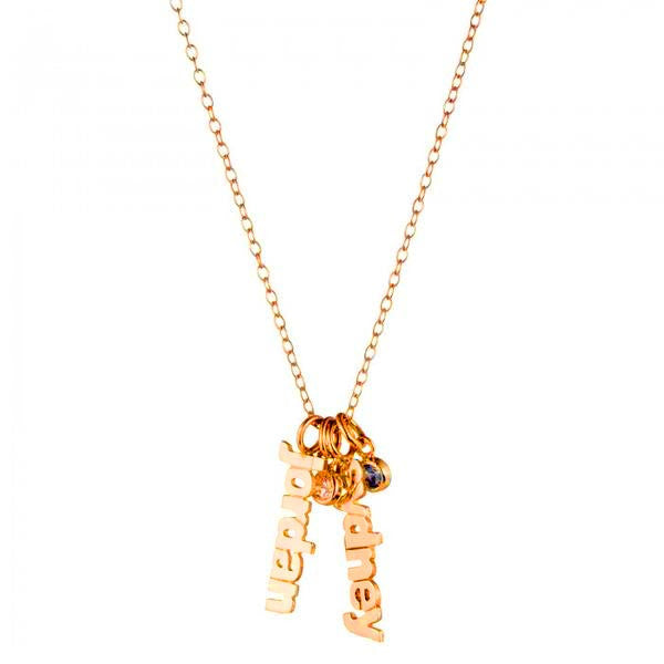 Gold Hanging Name Game Birthstone Necklace - Kourtney Kardashian 2