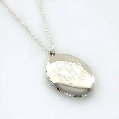 Personalized Gold Locket Necklace Alternate 1