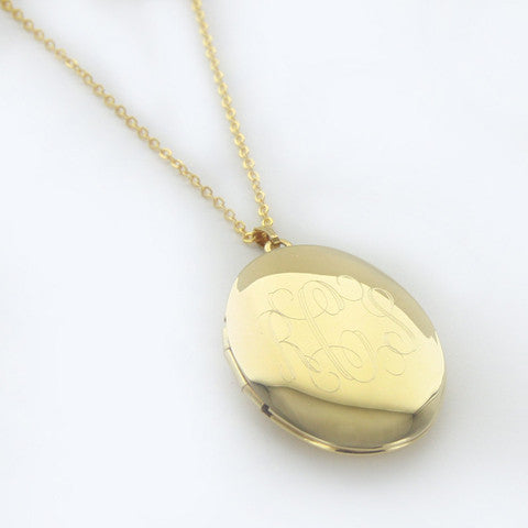 Personalized Gold Locket Necklace