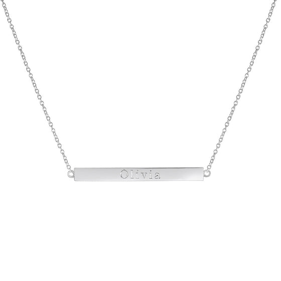 Skinny Personalized Bar Necklace