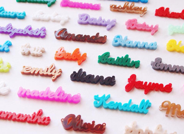 script acrylic name necklace - moon and lola