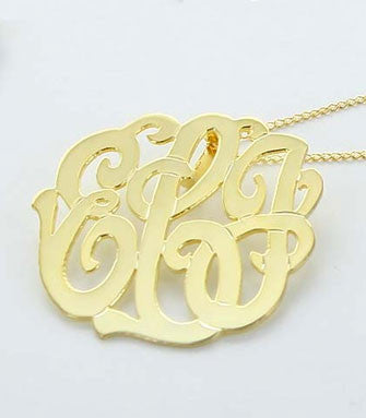 Monogrammed Necklace Back Bale