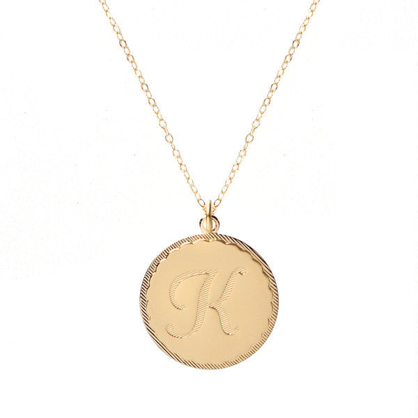 Vintage Initial Charm Necklace 7