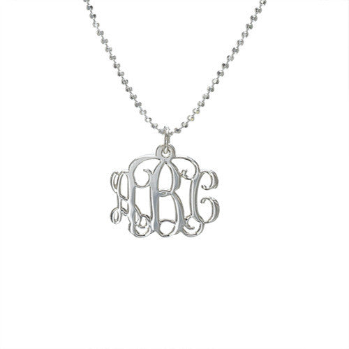 Mini Monogram Necklace - Vine Script