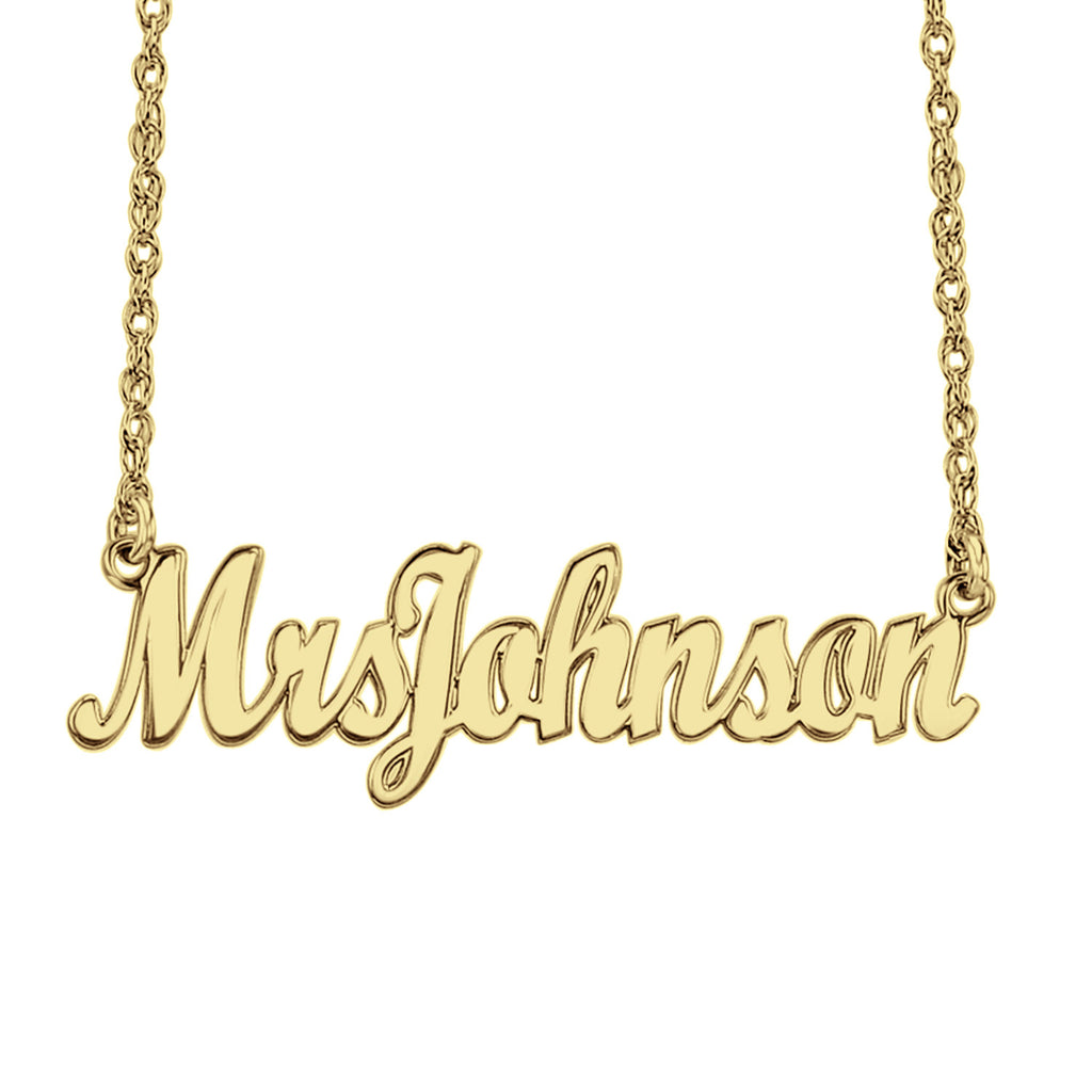 Personalized Mrs Name Necklace