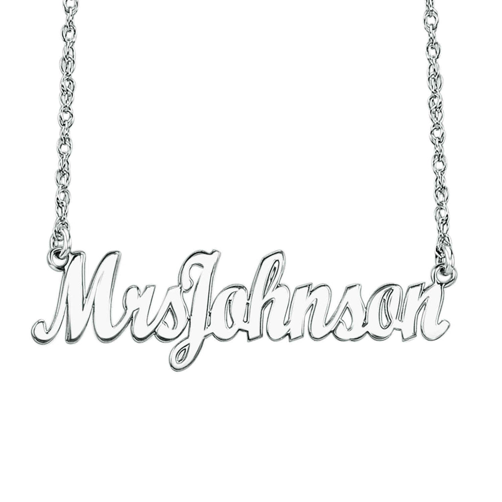 Personalized Mrs Name Necklace 2